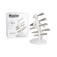 White Voodoo Knife Block