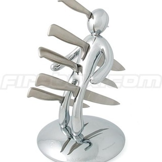 Chrome Voodoo Knife Block